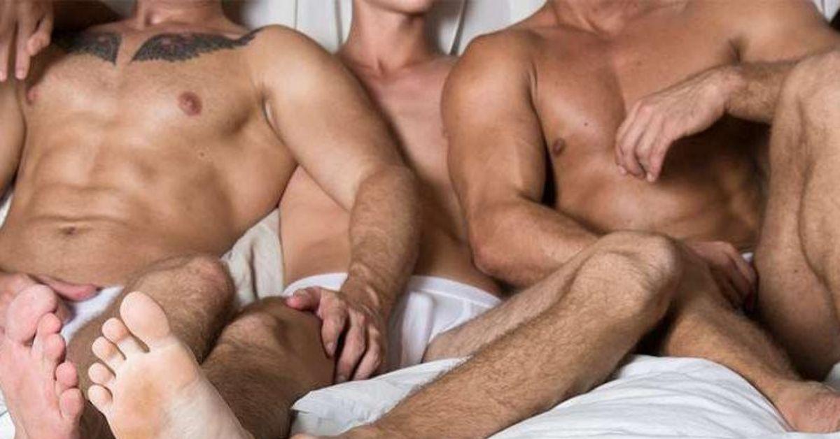 Three Gay Men In Bed