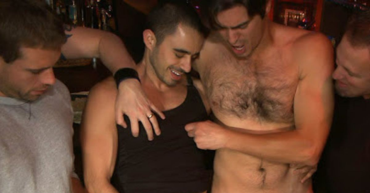 First DP At Gay Sex Party