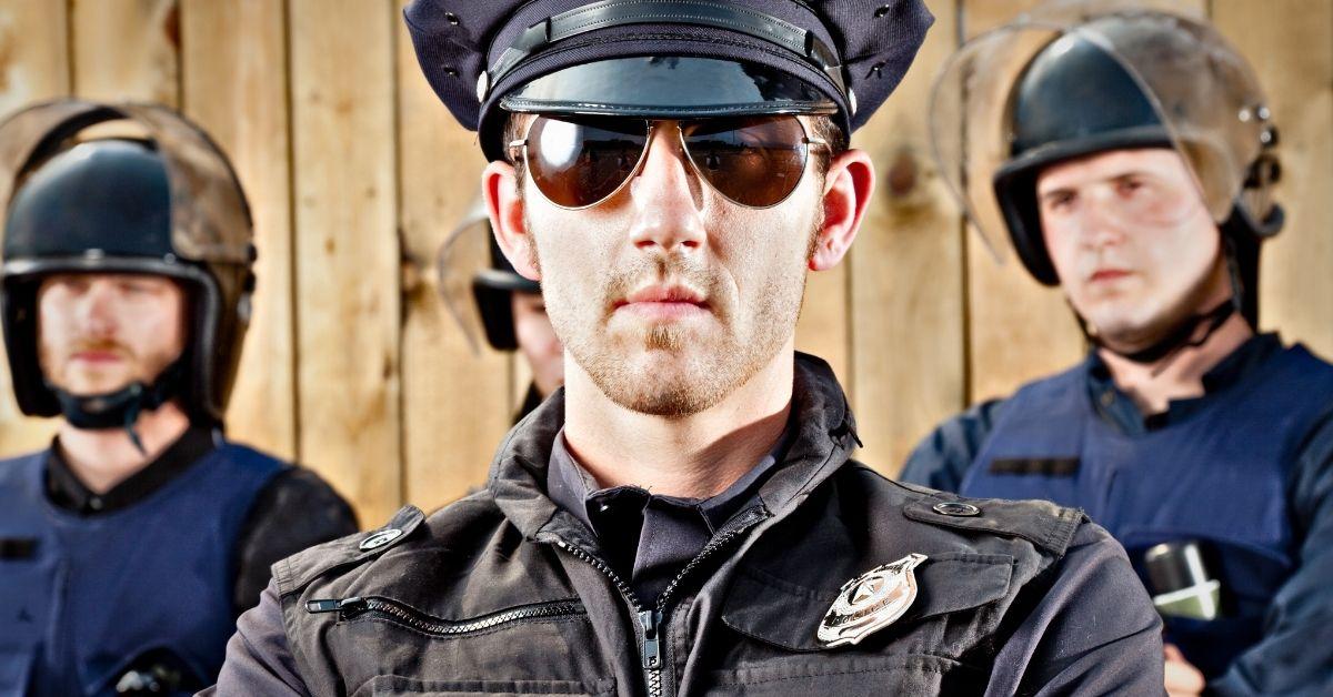 Alpha Cop Arrests Nasty Bottom