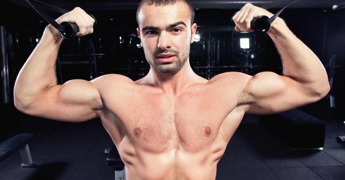 Worshiping Gay Bodybuilder's Cock